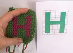 How to make pictures or words in your crochet | How to do crochet intarsia | Tutorial by April Garwood of Banana Moon Studio