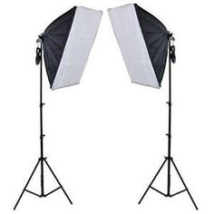 The 2 head continuous studio lighting kit provides best soft lighting and is suitable for use with any background, photography table, light tent in a studio for natural daylight.