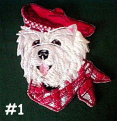 Westie And Cairn Terrier Embroidered Pillows by barkpurr on Etsy https://www.etsy.com/listing/200542229/westie-and-cairn-terrier-embroidered