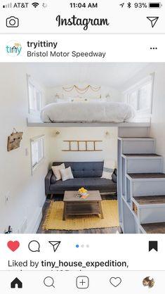 Tiny house bedroom/living room