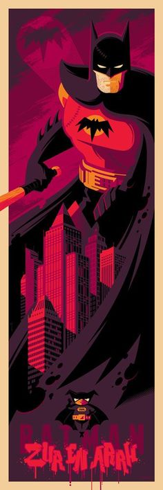 Pulp Menagerie Tom Whalen Show Posters Release Round Two Batgirl, Nightwing, Catwoman, Superman, I Am Batman, Batman Art, Batman Robin, Tom Whalen, Comic Books Art