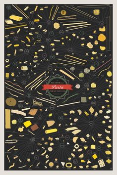 pop chart lab a delicious charting of over 250 shapes of pasta