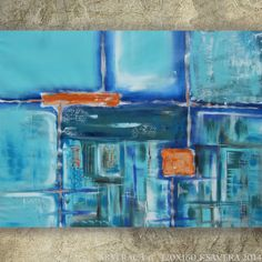 abstract wall art Large Painting Abstract 6 Modern by KsaveraART, €250.00