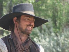 Karl Urban as Woodrow F. Call in Comanche Moon. Showing some love to Comanche