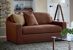 Sure Fit Slipcovers Stretch Cavalry Twill Separate Seat Slipcovers - Sofa