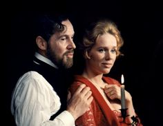 Erland Josephson and Liv Ullmann in Cries and Whispers directed by Ingmar Bergman, 1972. Photo by Bo-Erik Gyberg
