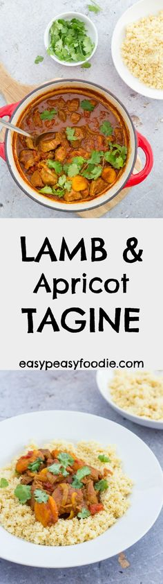 Lamb, spices and apricots cook together slowly to make this simple tagine. Quick to prepare and full of flavour, let the oven do the work this Easter! #lamb #dicedlamb #lambneck #lambtagine #tagine #apricots #couscous #easydinners #midweekmeals #easyentertaining #familydinners #easypeasyfoodie #easter2018 #easterlamb #easterlunch #easterfood