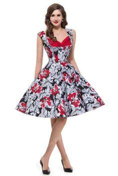 51d6ea65c1b 2017 Retro Vintage 50s Floral clothing 1950s Swing plus size Robe  Rockabilly Cotton Womens Print Party Dresses Summer Style