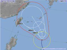 台風23号 2013年10月3日9時時点 直接の影響はないだろう・・