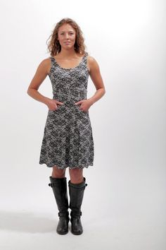 Jersey Knit Tank Dress with Pockets Made in America by Melissa Bell Clothing