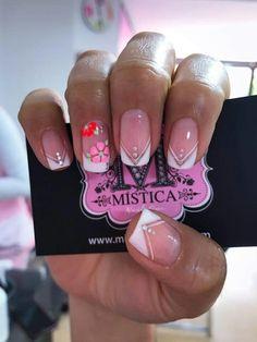 Cute Nail Art, Cute Nails, Hello Nails, Natural Nails, Nail Tips, Nail Art Designs, Pedicures, Simple, Magnolia
