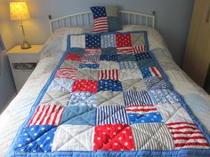 Boys American stars & stripes quilt