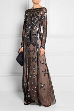Temperley London | Robe longue du soir en tulle brodé Carly | NET-A-PORTER.COM