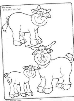 Terrific Topics - Farm - Lina Bibiloni - Picasa Web Albums Coloring Sheets, Coloring Books, Coloring Pages, Embroidery Applique, Embroidery Designs, Quiet Book Templates, Farm Unit, Cow Pattern, Painting Patterns
