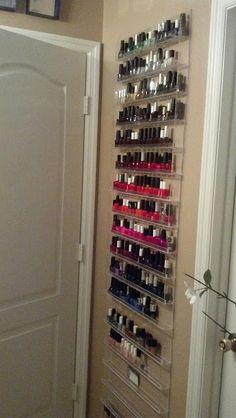 nail polish racks!! LOVE!