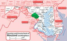 Montgomery County Maryland Map - Find out where your Ancestors came from! - Display all your tree on your own Genealogy Website, check it out!