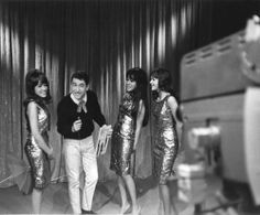 Ronnie, Estelle and Nedra with Soupy Sales