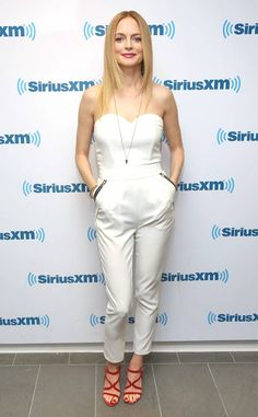 Heather Graham from The Best of the Red Carpet She's white hot in a pearly jumpsuit with fiery red heels. Celebrity Feet, Celebrity Pictures, Celebrity Women, Heather Graham Hot, Top Celebrities, Celebs, Famous Models, White Jumpsuit, Night Looks