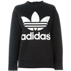 Adidas Originals Adidas X Hyke Sweatshirt ($127) ❤ liked on Polyvore featuring tops, hoodies, sweatshirts, black, adidas originals sweatshirt, black crewneck sweatshirt, black sweat shirt, logo sweatshirts and long sleeve tops