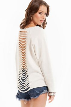 So Torn Sweater $19 at www.tobi.com