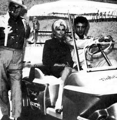 """Elvis and actress Nancy Sinatra summer 1967 during the production of his movie """"Speedway."""""""