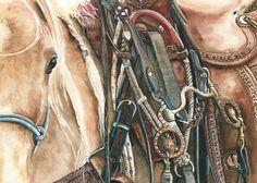 "Daily Paintworks - Palomino"" - Original Fine Art for Sale - © Nadi Spencer Palomino, Horse Photography, Western Art, Horse Art, Art For Sale, Horses, Watercolor, Fine Art, The Originals"