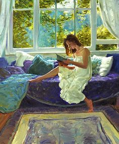 The Last Chapter by David Hettinger, American landscape and figurative artist. http://hettingerstudio.com/