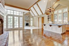 Gorgeous 1.5 Story custom home. Main level over 3,000sf! 2 bedrooms on the main level. 3 fireplaces (1 is see thru). Huge verandah overlooking the greenspace. Professionally marketed by Audra Heller & Associates 816-268-6028  www.audraheller.com