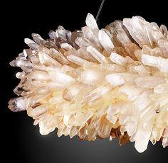 Rh S Geode Quartz Crystal Chandelier Collection