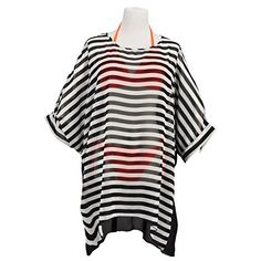 Womens Bohemia Summer Beach Wear Cover up Swimwear Black And White Pinstriped ** Find out more about the great product at the image link.  This link participates in Amazon Service LLC Associates Program, a program designed to let participant earn advertising fees by advertising and linking to Amazon.com.