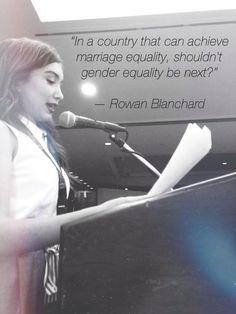 Rowan Blanchard's ending to her inspiring speech!