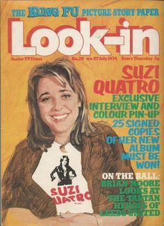 July 1974, Suzi Quatro.