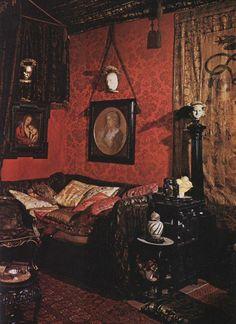 40 Trending Victorian Bohemian Decor Inspirations - Home Design Victorian Rooms, Victorian Interiors, Victorian Decor, Gothic Home Decor, Victorian Parlor, Victorian Architecture, Vintage Gothic Decor, Gothic Interior, Interior Design Victorian