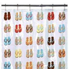 Flip Flop Shower Curtain!  Flip Flop Shower Curtain