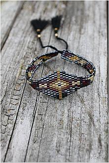 Bead Bracelet Metallic Tones