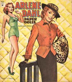 Arlene Dahl paper dolls.