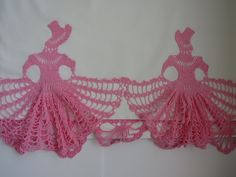 Pink Crochet Southern Belles Pillowcase - Single -  Victorian Ladies - Gone with the Wind - Vintage Cannon Bedding - Shabby Chic by shabbyshopgirls on Etsy