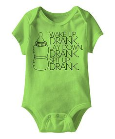 Look what I found on #zulily! Key Lime 'Drank' Bodysuit - Infant #zulilyfinds