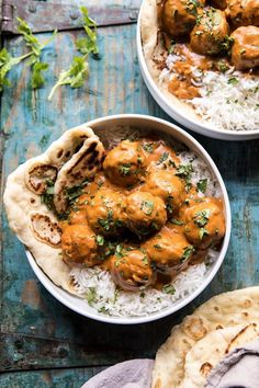 30 Minute Butter Chicken Meatballs is part of Chicken meatballs A delicious mix of cozy and healthy This dish incorporates a variety of Indian spices, all with an abundance of health benefits Thes - Yummy Recipes, Top Recipes, Indian Food Recipes, Great Recipes, Dinner Recipes, Cooking Recipes, Yummy Food, Healthy Recipes, Tasty