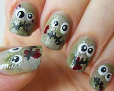 spooky nails 10 These spooky nail designs will get you in the Halloween spirit [12 photos]