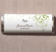 Heart Filigree Chocolate Bar Favor | Wedding Chocolate Bar | Chocolate Bar…