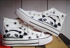panda shoes I want! pandas are my favorite wild animal!