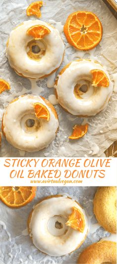 Light, fluffy and incredibly moist, these Orange Olive Oil Baked Donuts are a real taste sensation. The pungent, fruity oil balances perfectly with the orange & the sticky glaze finishes them off perfectly!  via @avirtualvegan