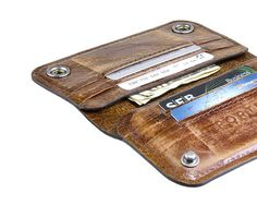 iPhone 6 RETROMODERN aged leather wallet by portel on Etsy