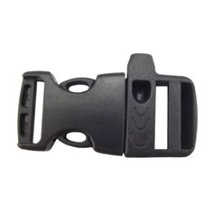 """Buckle Outfitters 100 Pack of 5/8"""" Side Release Whistle Buckles Black"""
