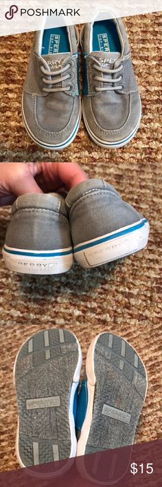 f000c3d7ae0aec Shop Kids  Sperry Gray Blue size Shoes at a discounted price at Poshmark.  Slip on style with elastic side.
