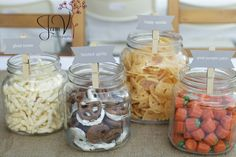 Party food: LOVE this display + tag idea!!!