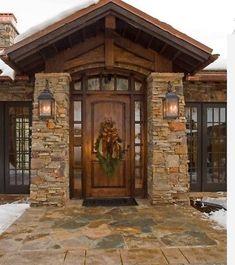 54 new Ideas for rustic front door entrance arches Rustic Entry, Rustic Exterior, Exterior Doors, Exterior Design, Rustic Front Doors, Rustic Home Exteriors, Unique Front Doors, Beautiful Front Doors, Rustic Patio