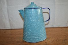 A personal favorite from my Etsy shop https://www.etsy.com/ca/listing/233054403/great-blue-speckled-enamelware-coffee
