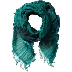 Diesel Sylla Scarf ($88) ❤ liked on Polyvore featuring accessories, scarves, deep teal, cotton shawl, plaid shawl, plaid scarves, tartan scarves and diesel scarves